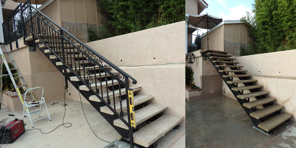 LA Gen Steel Stairs Structure 1b